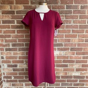 Merona Maroon Short Sleeve Shift Dress Small